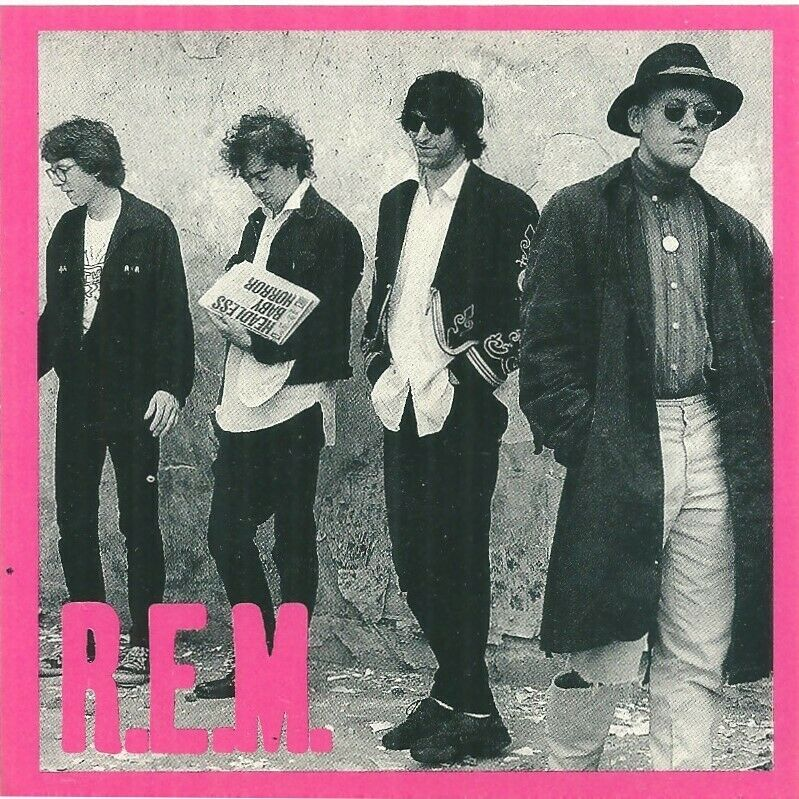 R.E.M  - Rare -  Band   Image Original 1980's Sticker  Nr Mint