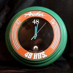 ANOTHER 48 HRS.14 INCH WALL CLOCK PROMOTIONAL EDDIE MURPHY NICK NOLTE 1990