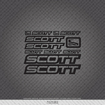 Transfers 01300 Scott Bicycle Stickers Decals White