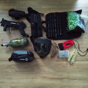 Tippman A-5 and all the gear