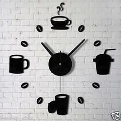 Fashion Acrylic DIY Self Adhesive Interior Wall Model Creative Decoration Clock
