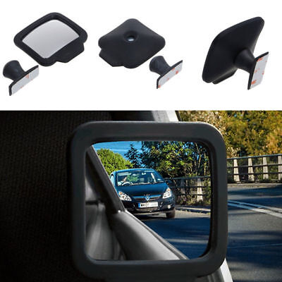 Car Blind Spot Wide Angle Adjustable Baby Rearview Backseat Blind Sector Mirror Acrylic Double Side Mirror