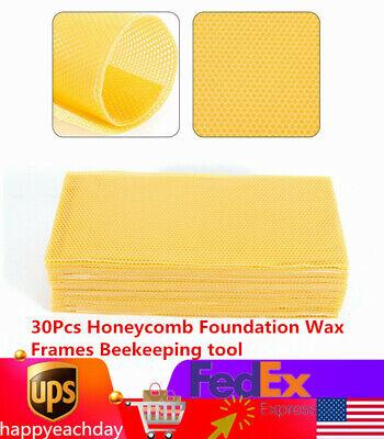 30pcs Honeycomb Foundation Wax Frames Beekeeping Tool Honey Hive Bee Equipment