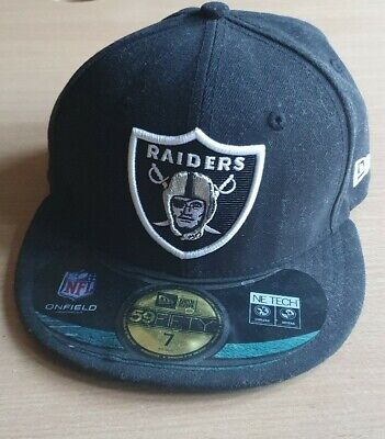NFL Oakland Raiders New Era Black Snapback 59Fifty NE Tech Size 7.