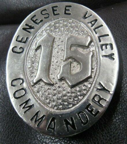 Genesee Valley Commandery Freemason Belt Buckle Antique 2 Inch Wide