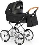 Roan Sofia Black Leather Kinderwagen F27 (Kinderwagens)