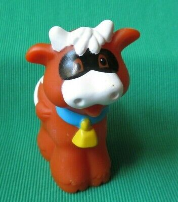 Fisher Price Little People Halloween Pumpkin Party COW w/ MASK farm  animal 2010