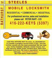 LOCKSMITH at BATHURST & STEELES 24/7 416-222-KEYS(5397)