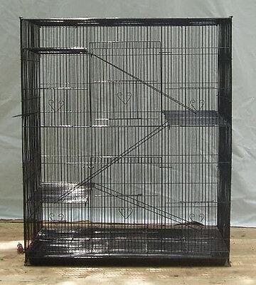 NEW Large 4 level Ferret Chinchilla Sugar Glider Mice Rat Cage 404 Black 465