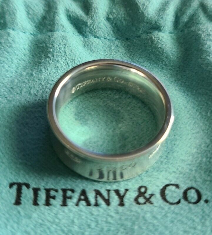 Tiffany & Co. 925 Silver 1837 Ring Size 5. USED, excellent condition