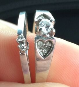Size 8.5 wedding ring set