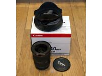 Canon 17-40 f4 L Lens - one professional owner - (mint, boxed and as new)