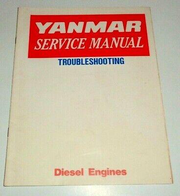 Yanmar Diesel Tractor Engine Troubleshooting Service Manual Original