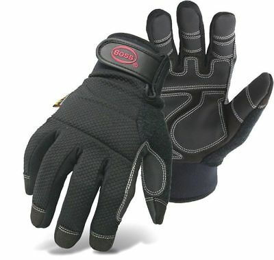 Mens Waterproof Work Gloves Padded Knuckle Lined New