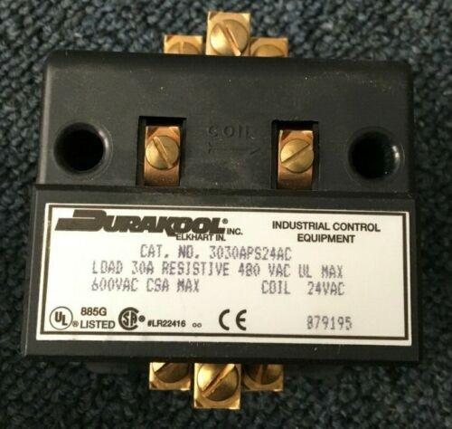 Durakool 3030APS24AC 30 AMP Mercury Contactor Relay 480 VAC Max, 24 VAC Coil