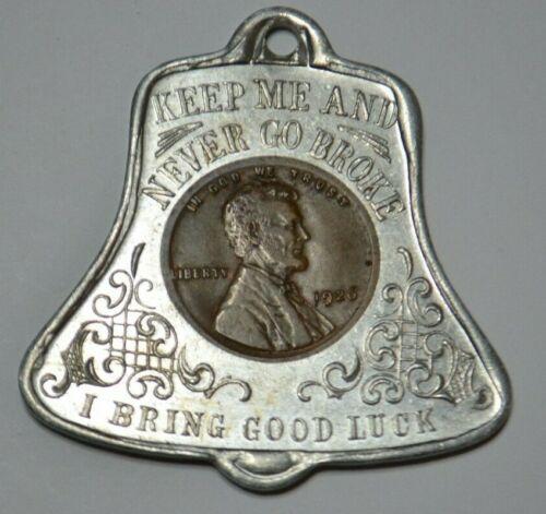 1926 Lincoln Cent  Good Luck souvenir of Washington DC