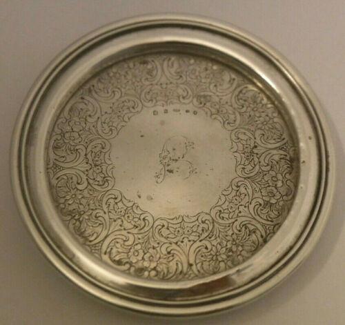 "Antique Sterling Silver  5 5/8"" Wine Coaster  Edinburgh Scotland 1849 JM Maker *"