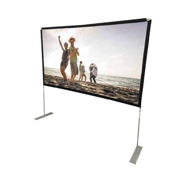 "RCA Indoor Outdoor 100"" Diagonal Portable Projector Screen - RPJ144"