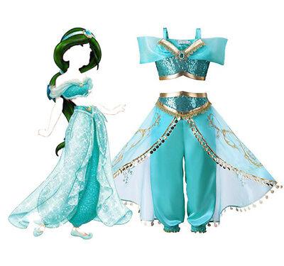 Aladdin and the Magic Lamp Jasmine Costume Kids Girls Cos Dance Performance Suit - Jasmine And Aladdin Costumes