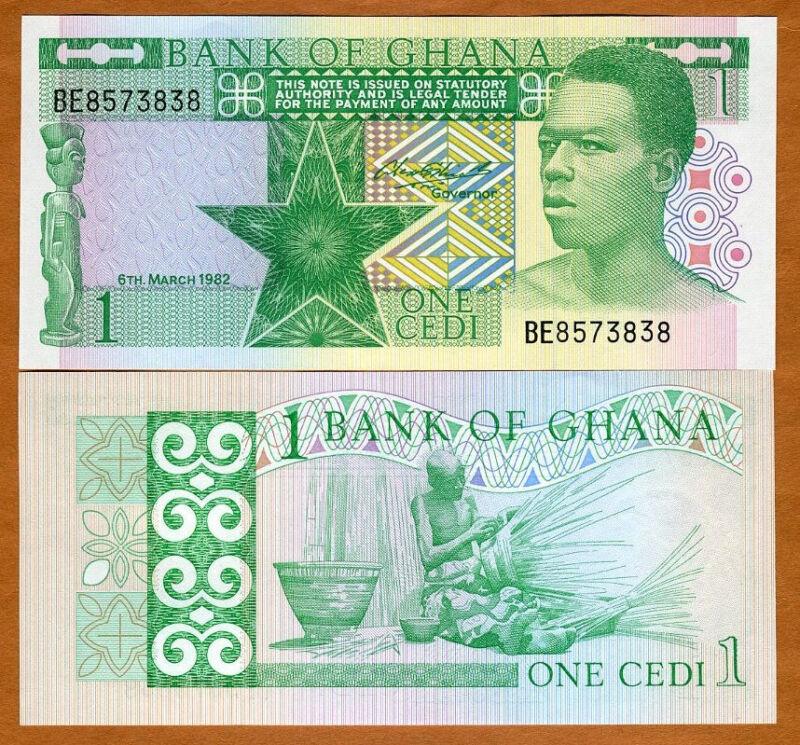 Ghana / Africa, 1 Cedi, 1982, P-17b, UNC