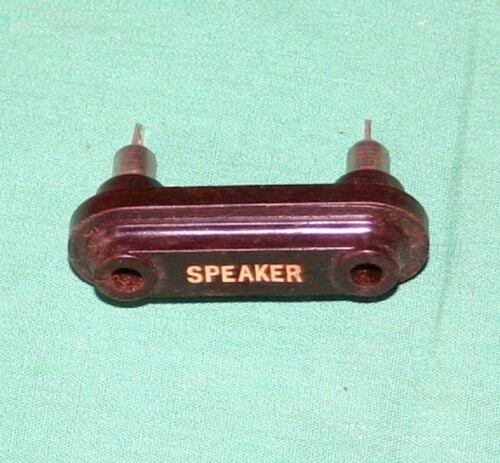 Brown Bakelite Speaker Jack for 1920s Vintage Radios Radio Parts