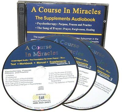 A Course In Miracles ACIM  SUPPLEMENTS Audio CD audiobook Enhanced Clarity Vers