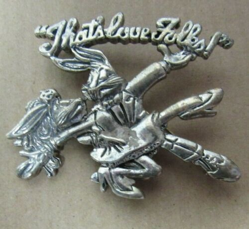 "1994 WB STORE PEWTER BROOCH ""THAT"