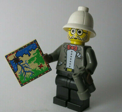 Dr. Kilroy 7415 7423 Map Orient Expedition Adventurers LEGO Minifigure