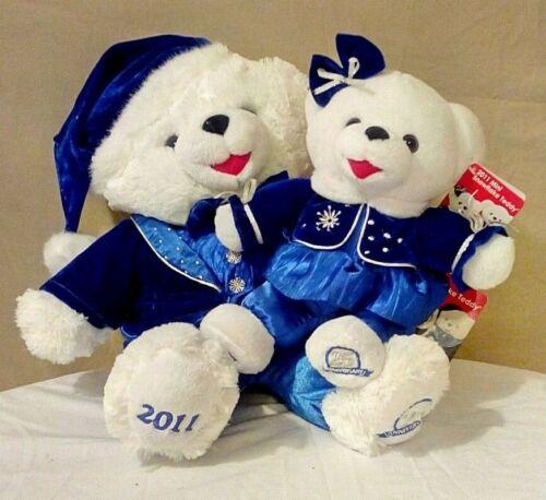 "WOW! TWO ""25th Anniversary"" 2011 Walmart Christmas Bears w/ store tags! RARE!"