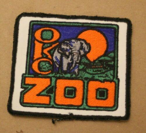 OKC Zoo Oklahoma City Elephant Design Vintage Embroidered Souvenir Patch Badge
