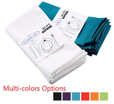 Napkins Table Linen Dinner Cloth Poly Cotton Hotel Wedding 6 & 12 Pack 40 x 40cm