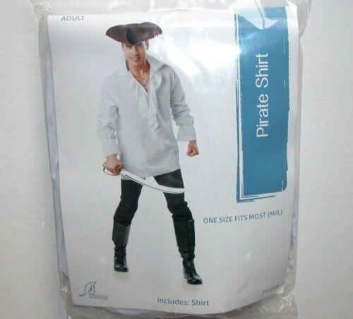 NIP NEW Adult Pirate  Halloween Costume  White Shirt