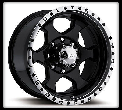 "15"" ULTRA 175B ROGUE BLACK RIMS & COOPER 35X12.50X15 DISCOVERER STT TIRES WHEELS"