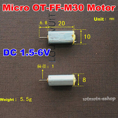 2pcs Ff-m30 Dc 1.5v 3v 6v 14000rpm High Speed Micro Mini 810mm Dc Motor Diy Toy