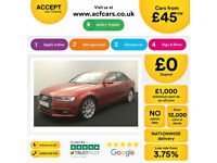 Red AUDI A4 SALOON 1.6 1.8 2.0 TDI Diesel SPORT FROM £41 PER WEEK!
