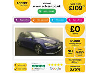 BLUE VOLKSWAGEN GOLF R 2.0 TSI 300 310 R 4MOTION DSG 5DOOR FROM £109 PER WEEK!