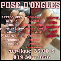 POSE D'ONGLES ACRYLIQUE