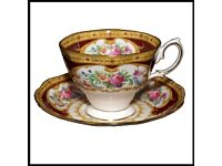 Vintage Royal Albert Bone China Tea Cup & Saucer Set Lady Hamilton Pattern