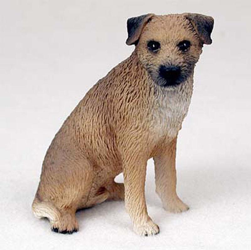 Border Terrier Figurine Hand Painted Statue