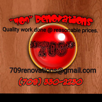 Handyman services from start to finish.