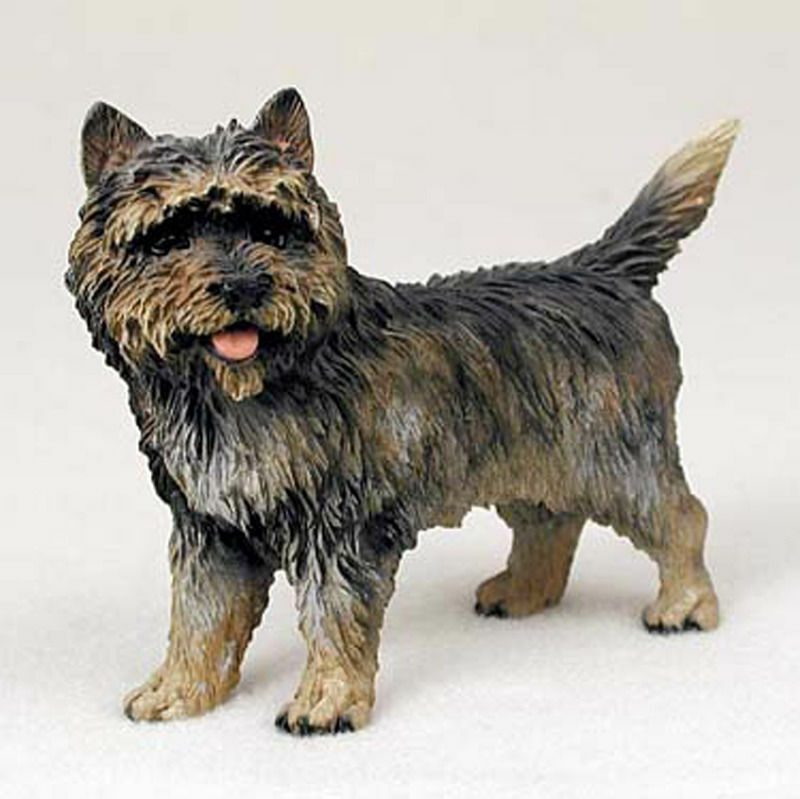 Cairn Terrier Figurine Hand Painted Collectible Statue Brindle