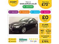Black AUDI A4 SALOON 1.8 2.0 TFSI Petrol SPORT S LINE FROM £72 PER WEEK!
