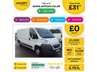 Citroen Relay L2H1 35 2.2 HDI 130 L3 H2 PanelVan FROM £31 PER WEEK!