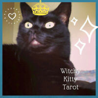 Witchy Kitty Tarot Readings - 3 hour reading via email - 45.00