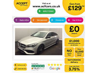 SILVER MERCEDES-BENZ CLA 220 200 180 CDI AMG LINE Coupe SPORT FROM £129 PER WEEK