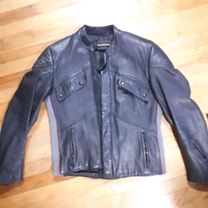 Leather motorcycle jackey size 38