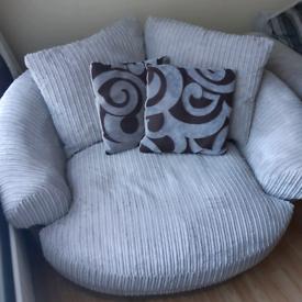 Harvey's corner sofa & swivel chair