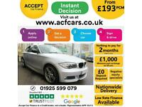 2013 SILVER BMW 118D 2.0 SPORT PLUS EDITION DIESEL COUPE CAR FINANCE FR £193 PCM