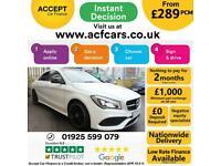 2018 WHITE MERCEDES CLA180 1.6 AMG LINE PETROL COUPE CAR FINANCE FR £289 PCM