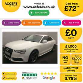 Black AUDI A5 COUPE 1.8 2.0 TDI Diesel BLACK EDITION PLUS FROM £109 PER WEEK!